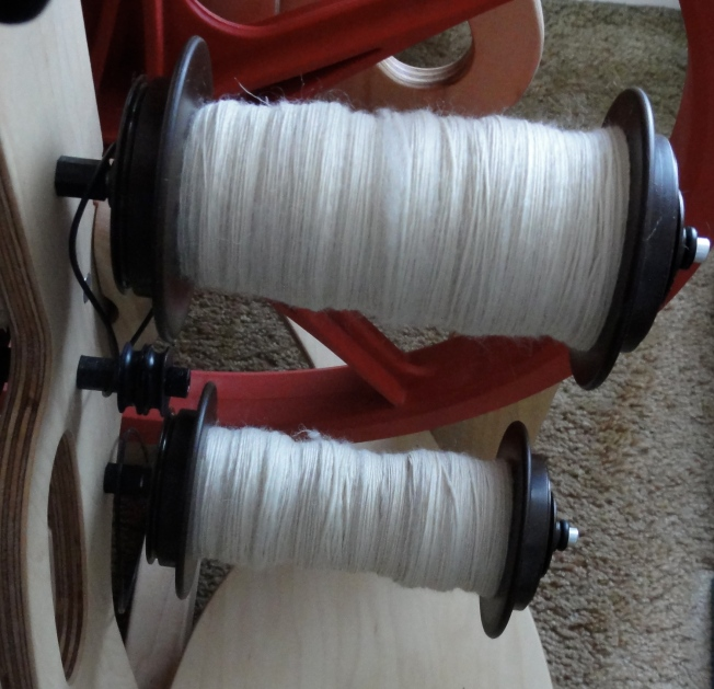 Undyed BFL patiently awaiting plying