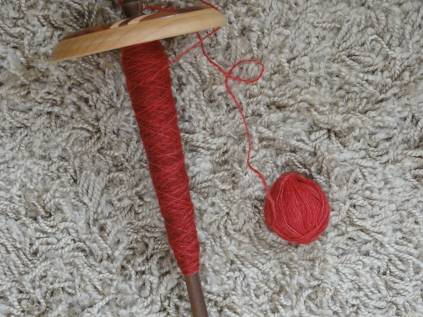 Falkland singles plied on a Kundert spindle from a plying ball
