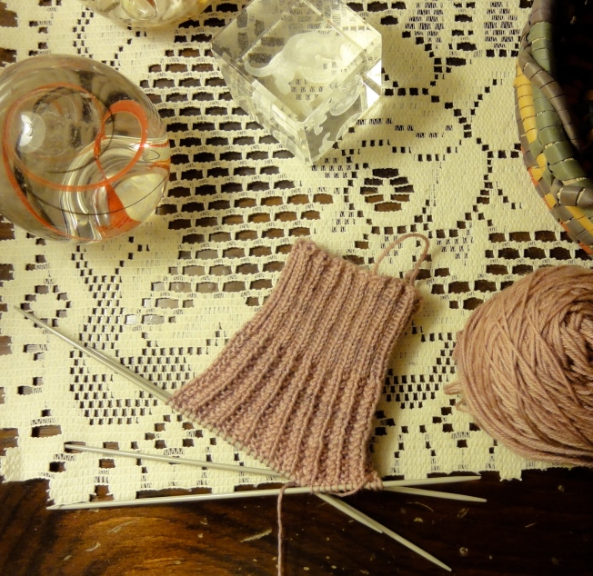 The beginnings of a Reversible Rib sock