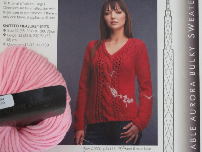 A very pretty sweater, but not practical for bulky yarn