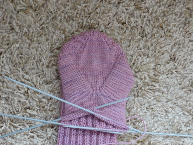 The V-shaped gusset close up