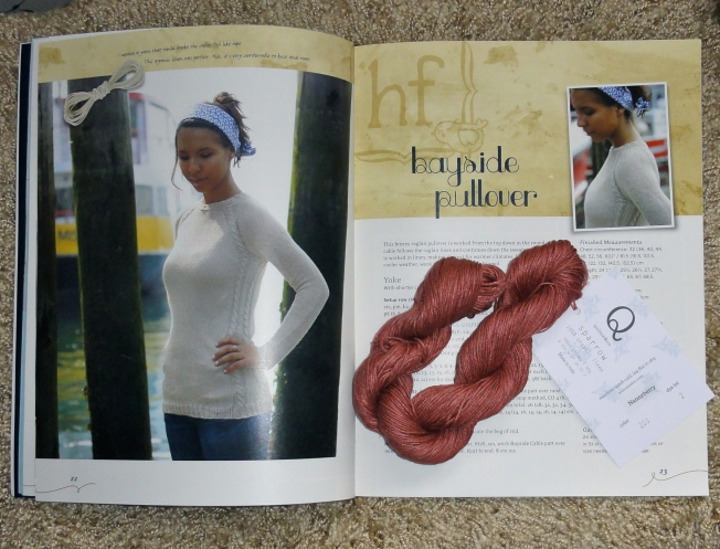 Bayside Pullover and Sparrow–a lovely combination