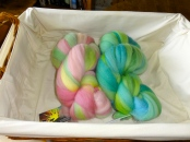 The April and March 2013 selections of Sunset Fibers BFL
