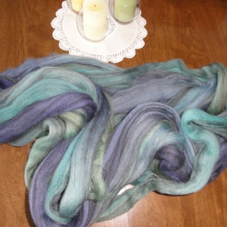 Sunset Fibers mixed BFL roving