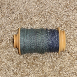 3-ply mixed BFL on the bobbin