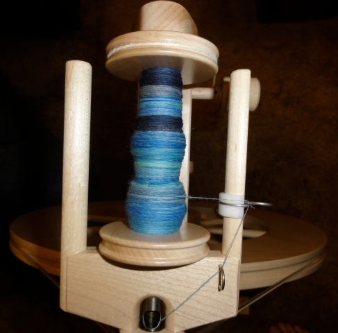 Bobbin 3 is more than halfway done.