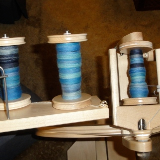 Three bobbins full