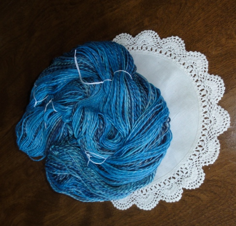 It looks pretty in the skein, too.