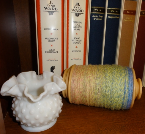 My first cable yarn resting on the bobbin