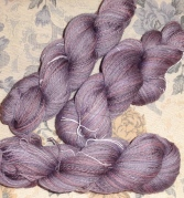 1500 yards of incredibly soft and cushy lace weight handspun yarn