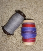 4 oz of alpaca singles and 4 oz of chain-plied BFL