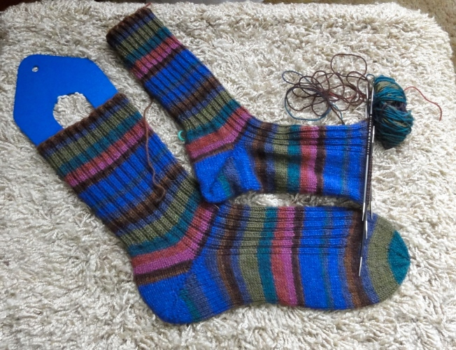 Sock #2 is nearly completed.