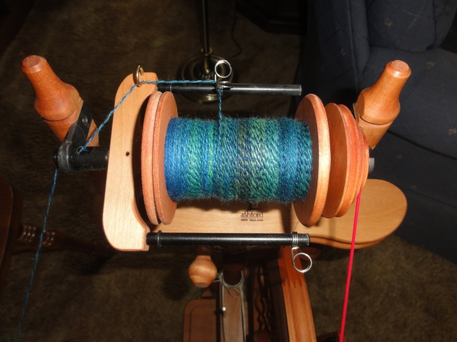 Plying in progress