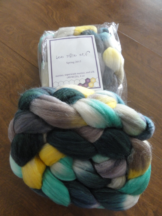 Two 4-once braids of beautifully handdyed fiber