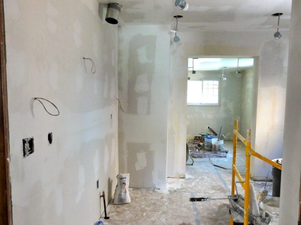 Drywall finishing is messy.