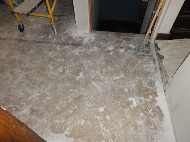 This is why our contractor took the time to cover the floor with kraft paper.