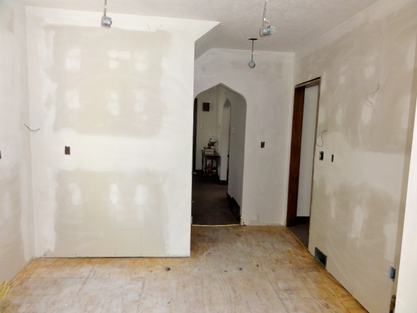 The paper on the floor really saved the contractor a lot of clean-up time.