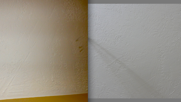Two shots of the ceiling, side by side.