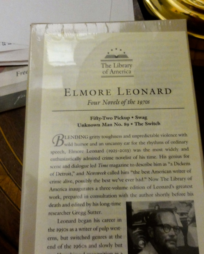 Yes, it's Elmore Leonard, who was not just a great storyteller, but a great writer, period.